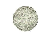 Ball of money Stock Image