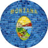 Ball with Montana flag - Illustration Stock Photo