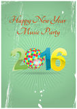2016 ball music. Illustration of 2016 text with ball music royalty free illustration
