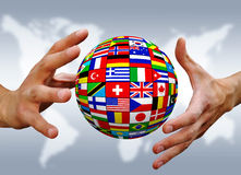 Ball of national flags Royalty Free Stock Image
