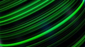 Ball in neon lines. Abstract animation of three-dimensional black sphere spinning with neon lines and glare. Beautiful royalty free illustration