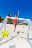 Ball in net Stock Images