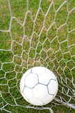 Ball in the net. Royalty Free Stock Images