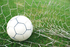 Ball in the net. Royalty Free Stock Photo