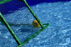 Ball in the net Royalty Free Stock Photo