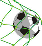 Ball in the net - football Stock Images