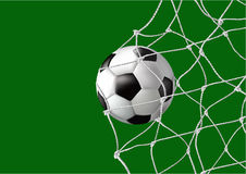 Ball in the net - goal Stock Photos