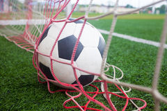Ball in net , Goal Stock Image