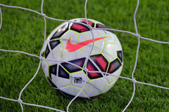 Ball in the net Royalty Free Stock Photography