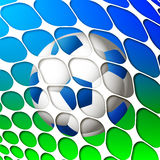 Ball in the net Royalty Free Stock Photos