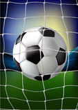 Ball in the net - stadium Royalty Free Stock Photo
