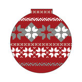 Ball with nordic pattern. Christmas  background, ball with nordic pattern, vector illustration Stock Photos