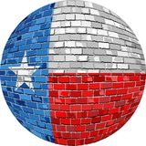 Ball with Texas flag - Illustration Royalty Free Stock Images