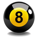 Ball Number 8. Stock vector of billiard ball number 8 Royalty Free Stock Image