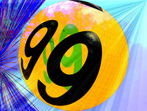 Ball number 99. Spinning into outer space Royalty Free Illustration