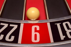 Ball in number nine Royalty Free Stock Photography