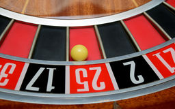 Ball in number twenty five Stock Images