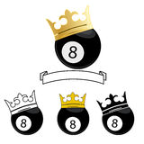 Ball number 8 Royalty Free Stock Images
