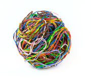Ball Of Colored Wire Stock Photos
