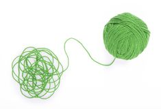 Free Ball Of Yarn On The White Background Royalty Free Stock Photos - 136778078