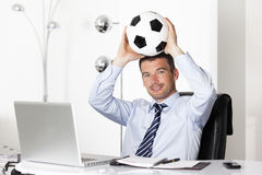 Ball in office Stock Photo