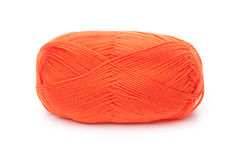 Ball of orange threads Royalty Free Stock Photography
