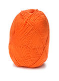Ball of orange threads Royalty Free Stock Image
