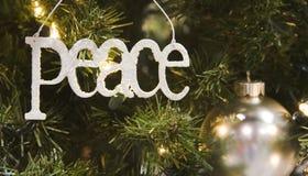ball ornament peace silver Στοκ Φωτογραφία
