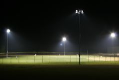 Ball Paark at Night Stock Photography