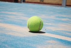 Ball of padel. royalty free stock photography