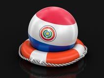 Ball with Paraguayan flag on lifebuoy. Image with clipping path. Image of Ball with Paraguayan flag on lifebuoy. Image with clipping path vector illustration