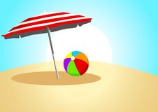 Ball and Parasol Stock Photography