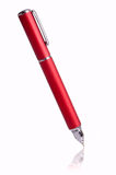 Ball Pen. Red ball pen on white background stock images