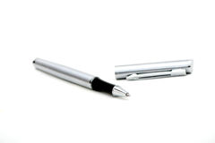 Ball pen. A ball pen on white background stock image