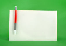 Ball Pen And Card Stock Photography