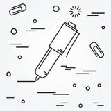 Ball pen isolated Icon.Ball pen isolated Icon Vector. Royalty Free Stock Image
