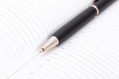 Ball pen and office pad Stock Photo
