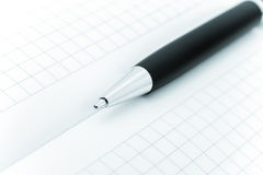 Ball pen and office pad Royalty Free Stock Photos