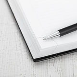 Ball pen and office pad Stock Photos