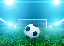 Ball on penalty point Royalty Free Stock Photos