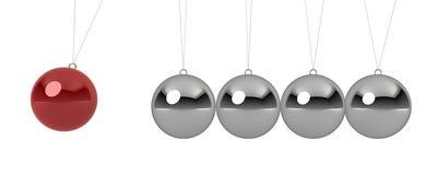 Ball pendulum. 3d render on white Vector Illustration