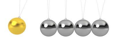 Ball pendulum. 3d render on white Royalty Free Illustration