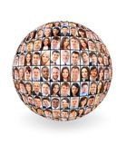 Ball and people. Communication internet royalty free stock image