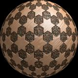 Ball Planet 3d stars texture. Ball Planet 3d stars yelllow brown texture / Ideal for background websites / Black background Royalty Free Stock Photo