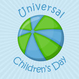 Ball planet, universal children's day Royalty Free Stock Photo