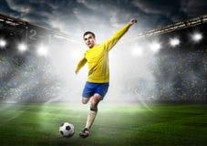 ball player soccer Стоковое Изображение RF