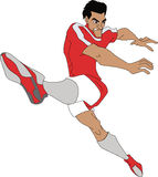 ball player soccer Arkivfoton