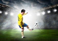 ball player soccer Arkivfoto