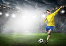 ball player soccer 免版税图库摄影