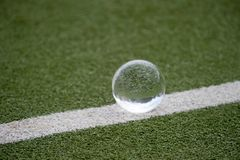 Ball for playing on the grass background.  royalty free stock image
